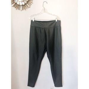 Merona | Black Faux Leather Leggings Size XL
